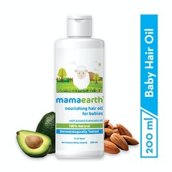 Mamaearth Nourishing Hair Oil For Babies With Almond & Avocado Oil - 200 Ml (mrp-399)