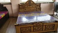 Solid Wood Modern 6 X 6.6 Feet Wooden Double Bed