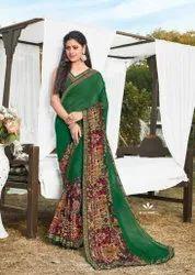 Radha Rani Vol 2 Mansarover Fashion Georgette Print Daily Wear Saree At Lowest Rate