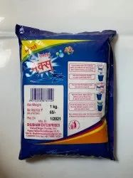 White Super max 1 Kg Active Washing Powder, For Laundry, Packaging Type: Packet