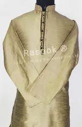 Golden Dupion Silk Kurta Pyjama