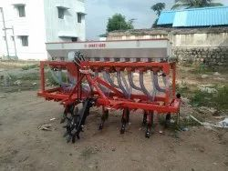11 Teeth Tractor Operated Automatic Seed Cum Fertilizer Drill