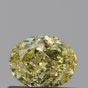Oval 0.50ct Fancy Intense Yellow VS2 GIA Certified Natural Diamond
