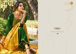 Ibiza Nargis Series 805-812 Pure Silk With Embroidery Heavy Dress Materials