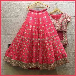 Present Satin  With Embroidery Work Wedding Lehenga Choli
