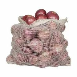 100% Cotton Woven Mesh Onion Bag