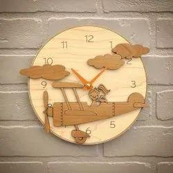 Round Fancy Wooden Clock