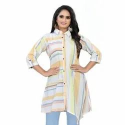 Rayon Western Long Top