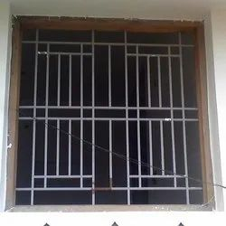 Silver Iron Window Grill, For Residential