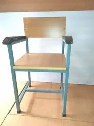 Weight: 30 Kg Mild Steel Wooden Chair, Finish: Polished, Color Coated