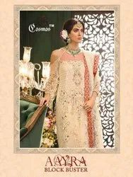 Cosmos Aayra BlockBuster Butterfly Net Embroidered Pakistani Suit Catalog