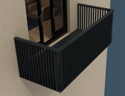 Glass & Pvc Aluminium Balcony Railing