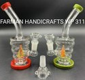 SMALL HONEYCOMB GLASS WATER PIPES