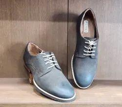 Urbanix Men Grey Leather Casual Shoes, Size: 6