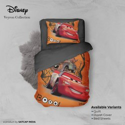 Multicolor Digital Printed Disney Veyron Winter Comforter, Size: 150 Cm X 220 Cm