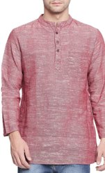 Men's Khadi Cotton Short Kurta Full