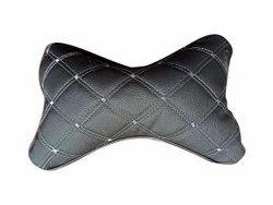 Black PU Leather Car Neck Rest Pillow