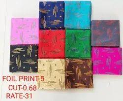 Foil Print-5 Jacquard Blouse Fabric