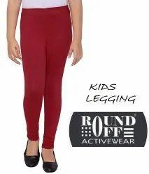 Cotton Plain Kids Legging