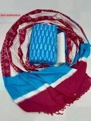 Ikat Cotton Suits Dress Material