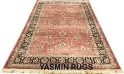 Persian Design Bedroom Silk Carpet, Size: 6 X 9 Feet, Weave: Machine Made