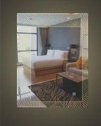 Lotus Transparent Decorative Mirror Glass, Size: 21l*17w Inches