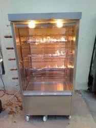 Silver Stainless Steel Alfaham Chicken Grill Machine
