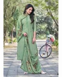Muslin Embroidered Daily Wear Casual Suit