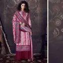 Pashmina Jacquard Print Unstitched Salwar Suit -8 Pcs