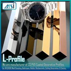 L-Profile (8x8mm) Gold, Rose Gold, Black, Silver, Champagne Antique Hairline & Antique Copper