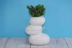 Round White Nursery Plants Pots, For Garden