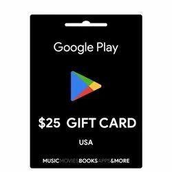 Google Play USA 25 Dollar Gift Card