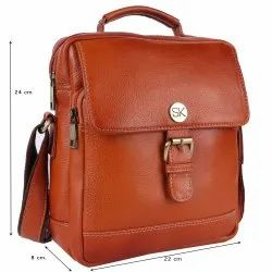 Pure Ndm Leather Unisex LEATHER SIDE SILING BAG, Pure Leather: Yes