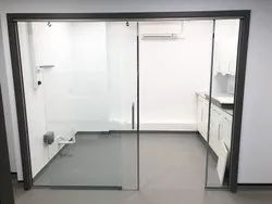 Plain Frame Less Glass Doors, For Office, Thickness: 12 Mm