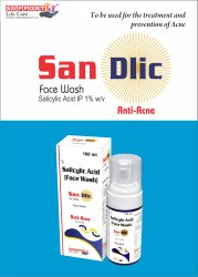 San-Dlic Salicylic Acid Face Wash, Liquid, Packaging Size: 100 Ml