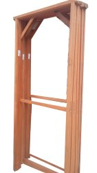 Hooks Wooden Gate Frame, Size: 8*4 Ft