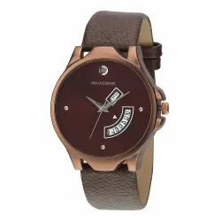 Beinvaders Men Day And Date Brown Strap, For Daily