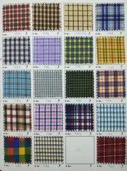 36 Inch Poly Cotton Machine Wash Check School Uniform Fabrics