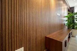 Brown Rectangular Wooden Wall Panel, For Residential