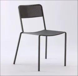 Metal Black Chair, For Sitting, Size: 48 Cm X 55 Cm X 76 Cm