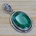 925 Silver Jewelry Emerald Gemstone New Design Pendant SJWP-207