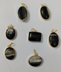 Black Sulemani Hakik Pendant, Size: Mix