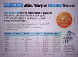 Atomic Absorption Spectroscopy  Standards & Acessories