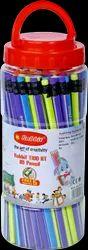 Black Hb Pancil 100 Pieces Trio Pencil Jar, For Kids