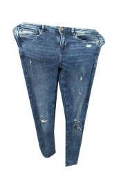 Button Blue Ladies Denim Jeans, 120 Gsm, Waist Size: 32