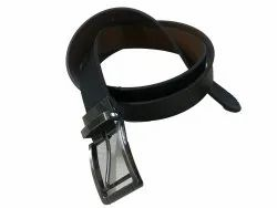 Male Black 35mm Formal Reversible Recycled Leather Belt