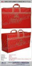 Printed Red IC-1713JL Saree Storage Bag