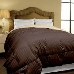 Micro Stripe Dyed Brown Bed Comforter