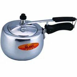 Quba 3 Litre Contoura Shape Induction Base Aluminum Pressure Cooker