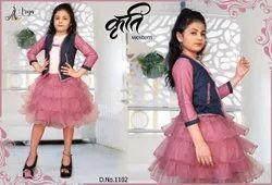 Women Stitch kruti kids wear baby frock, Size: 23 To 34